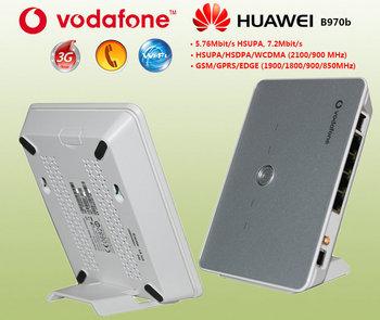 New original packaging ! Wholesale 5pcs/lot  Huawei/Vodafone B970b 3G 2/3G WiFi Wireless Router USB modem / unlock