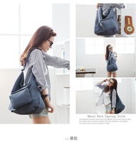 Korean version of the canvas shoulder  large capacity bag wild casual handbags 0520-0005