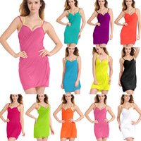 Sexy Summer Beach Dress Cover-Ups Women Deep V-neck Swimwear Casual Bikini Dresses 9 Colors