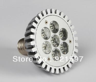 E27 7W PAR30 led spotlight with CE & RoHS Approved and free shipping(China (Mainland))