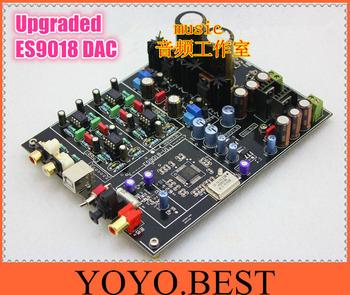 ES9018 Hi-end USB DAC 192K 32BIT USB CM6631A Balanced output Fiber Coax amplifier board DIY kit