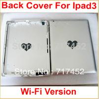 100% Original Back Replacement Battery Cover Door Housing For Ipad 3 Wi-Fi Silver Aluminum Repair Parts+LOGO