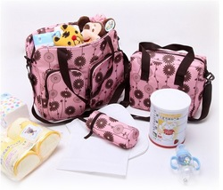 2013 Fashion multifunctional mother Bags nappy Bag cross-body maternity set For baby large Mom Mummy Tote Hangbag Free Shipping(China (Mainland))