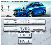 Free Shipping!   New Chevrolet Aveo Stainless Door Sill Scuff Plate  fit   4DR 5DR