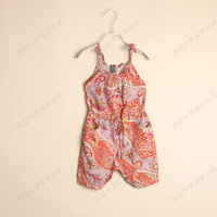 D042601*2013 Girls With Printing Jumpsuits Baby Girls Clothes children's Clothes 5 cs/Lot