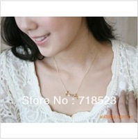 Free shipping Big love stereo letters zirconium pearl necklace fashion jewelry wholesale new han edition accessories