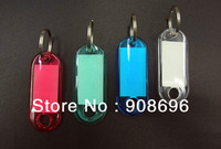 100pcs Blank Crystal Rectangle Keychains luggage tag Insert  Photo Keyrings key card number-Free Shipping