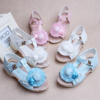 LOWEST PRICE 1 pair elegant Dot KIDS Girl Sandals Princess Beach shoes, footwear shoes, inner 19.5-22cm,Super Quality Sandals