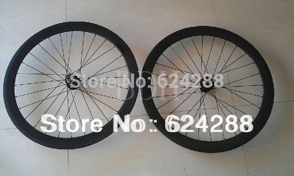 50mm clincher disc wheels bike in China free shipping full carbon wheelset(China (Mainland))