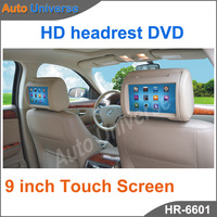 2012!!! 9 inch Digital Touch Screen Car Headrest DVD Player + 32Bit Game+IR+USB+SD+FM Free Dual Channel IR Wirelss Headphone