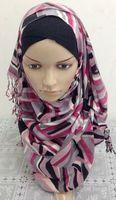 Tc226 silk feel handmade bubble bead scarf 200*70