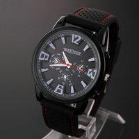 Hot Sale10pcs/lot Men's Sports Watch Pilot Aviator Army Style Silicone Quartz Watch Chen6986 Outdoor Wrist Wristwatch Discount