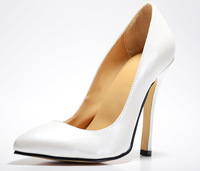 new arrive 2013 fashion  Noble  pointed high heel 12cm  Leather   white  women shoes  Leisure party lady's shoes