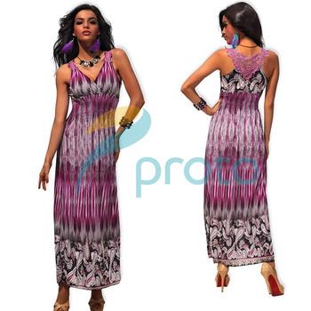 M XXL Plus Size 2013 New Arrival Women Fashion Print Bohemian Maxi Long Beach Dress with Embroidery Back Summer Dress 4188