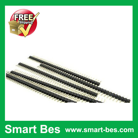 Smart Bes !~ 20pcs/lot 2mm 40pin Single Row Male Pin Header ROHS High Qulity Copper Free Shipping(China (Mainland))