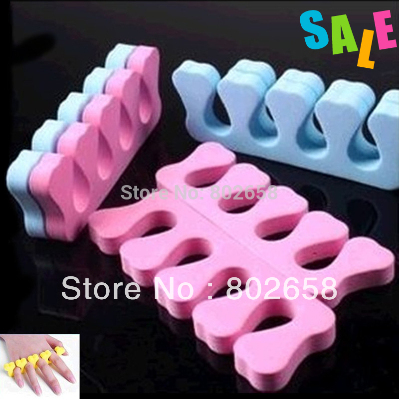 Free Shipping ( 20pcs/Lot ) Nail Art Care File Eva Heart Shape Soft Finger Toe Separator Wholesale(China (Mainland))