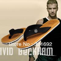Free shipping Beckham slippers summer fashion casual shoes Men beach slipper flat male flip flops leisure sandals