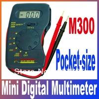 m300 DMM Pocket-size Mini digital multimeter Buzzer function LCD Digital Voltmeter Ammeter Ohm Multimeter Free Shipping