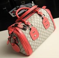 2013 Brand Designer Vintage Hit Color Plaid Handbag High Quality Large Capacity Practical Dual Function Tote Bag Retro Bolsa Sac