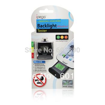 Portable Digital LCD Alcohol Tester Analyzer Breathalyzer Backlight for Samsung i9300 Sony HTC Wholesale Free Shipping #230061