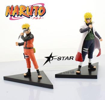 """Free Shipping Cool 6"""" Naruto Anime Uzumaki  Naruto & Namikaze Minato Set PVC Action Figure Collection Model Toy (2pcs per set)"""