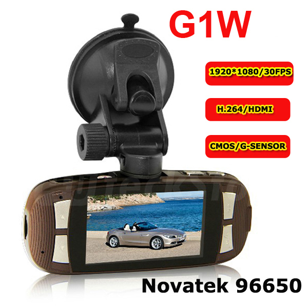 "2013 New G1W Dashboard Cam DVR Full HD1080P 30FPS Novatek Car Black Box W/2.7""LCD 140 Wide Angle H.264 IR Night Vision(China (Mainland))"
