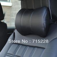 Car headrest neck pillow auto neck pillow super-fibre leather headrest auto supplies auto upholstery  Free Shipping One Piece
