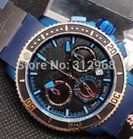 high quality  limited edition  chronograph  quartz movement  titanium wrist watch  for men free shipping