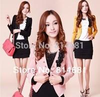 2014 spring and autumn women cardigan casual slim blazer short jacket plus size blazer L-XXXXXL 5 colors retail