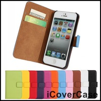 Genuine Wallet Leather Case for iPhone 5 5S