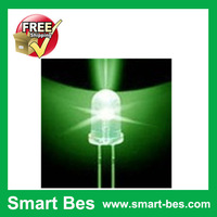 Smart Bes !~500PCS/Lot 5MM LED Green Superbright Water Clear Round LED Light  Free Shipping