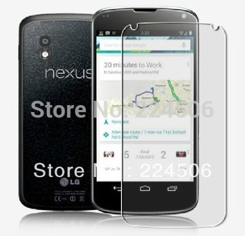 2pcs/lot Guard Clear LCD Screen Protector Shield For LG E960 google nexus 4 free shipping china office post front + back