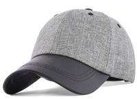 Summer outdoor Linen leather brim sun hat flexfit summer hat high quality fashion chapeu a hats benn sports baseball cap
