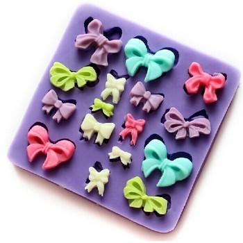 Mini Bowknot fondant silicone mold,chocolate mould ,candy resin molds, silicone mould,fondant cake decorating tools wholesale
