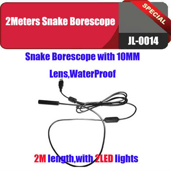 Waterproof Inspection Camera Tube Pipeline Camera Home Borescope Endoscope 2M USB pc camera Free shipping