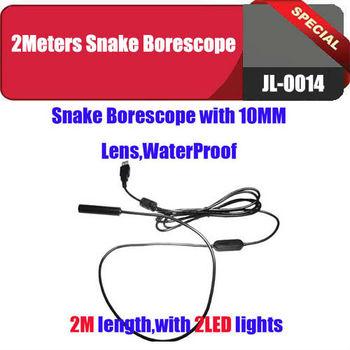 Waterproof Inspection Camera Tube Pipeline Camera Home Borescope Endoscope 2M USB pc camera Free shipping