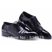 FREE SHIPPING 100% Quality Genuine Leather Personality Men's Dress Shoes ,Flat Casual Style Footwear For Man,Black,39-44
