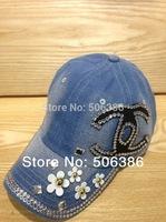 Wholesale COWBOY Worn high quality women summer fashion baseball cap,jeans/denim cap,designer cap,golf cap,sport cap,cotton cap