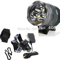 Brand New  010 3000LM LED Bike Front Light 3u2 With 3*CREE XM-L U2 LED Bicycle Light Kit +Free Shipping