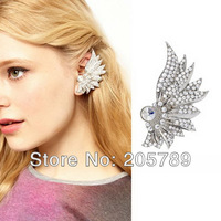 Latest big earrings for women fashion bridal gorgeous sparkling stone ear wrap stud ear cuff vs  clip /LEFT EAR/ Free shipping