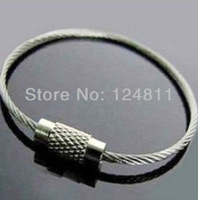 Outdoor Multifunctional Steel Wire Stainless Steel Key Chain Ring Freeshipping