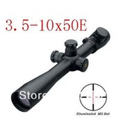 Free Shipping  3.5-10X50 Red&Green Illuminated Crosshair Rifle Scope