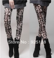 2013 Graffiti milk silk stretch leggings nine points