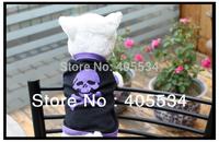 Brand New Pet Dog Clothes Apparel Cute Skull Head Dog T Shirt Size X-Small Small Medium Large