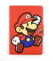 Brand Cute Cartoon Super Mario Ultra Thin Flip Magnetic Stand Leather Children Case Cover For Apple ipad mini 1/2 Retina Shell