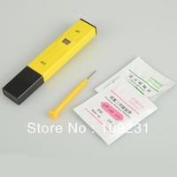 Yellow LCD Digital Pocket Pen Aquarium Pool Water Test Meter Measure PH Tester T0014
