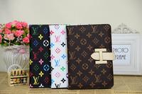 5pcs High Quality PU Leather case for ipad mini Free shipping for ipad mini 1/2