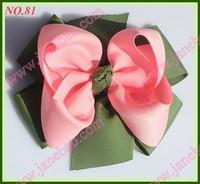 free shipping 20pcs 4.5'' fashion newest big layered hair bows popular girl  baby hair bow clips