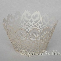 Wedding Supplies W003W  White  Lace cupcake wrapper 120PCS