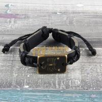 12pcs Factory Outlet Almaty Jewelry Leather Bracelet Popularity Pure Handmade Bangle Scorpion B0481